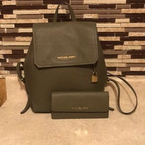 Mk backpack with wallet
